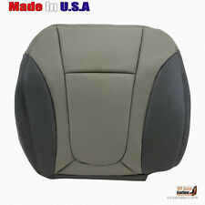 2003 2004 Chevy Trailblazer Front Passenger Bottom Leather Seat Cover 2-ToneGray