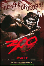 300 MOVIE POSTER Original WILDING 24x36 Frank Miller 2007 FILM  MASKED DUDES