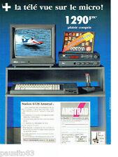 PUBLICITE ADVERTISING 046  1988  Amstrad  Station 6128  +télé vue micro Océan