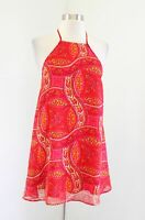 Show Me Your Mumu Katy Halter Dress Paisley Print Size XS Red Pink Yellow Mini