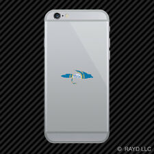 South Dakota Fly Fishing Cell Phone Sticker Mobile SD fish lure tackle flies