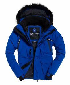 "Superdry Premium Ultimate Down Jacket Bold Cobalt Size: S 36"" (91cm) RRP £229.99"
