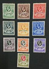 MOMEN: GOLD COAST SG #103s-112s 1928 SPECIMEN MINT OG H LOT #191501-397
