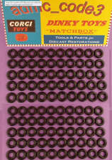 100 x Black Smooth Tyres Dinky Cars Vans 15mm will fit some others Corgi etc..