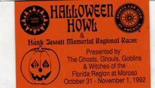 SCCA Dash Plaque 1992 Florida Region Halloween Howl @ Moroso