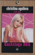 Christina Aguilera Backstage Bbq Tour 2000 Rare promo plastic laminate
