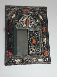 """Moroccan Wall MIRROR with Doors Handmade Home Decor Decoration Gift 12x9"""""""