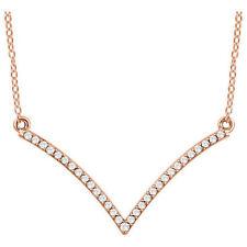 Diamante V 45.7cm Collar en 14k oro rosa ( 1/6 Ct. TW