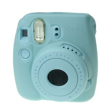 Soft Silicone Skin Cover Jelly Shell Case for Fujifilm Instax Mini 8/8+ -Blue