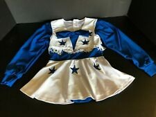 DALLAS COWBOY CHEERLEADERS BLUE & WHT FRINGED 1 PIECE OUTFIT SZ 3T