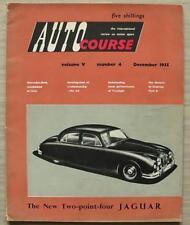 Curso De Auto Revista Diciembre de 1955 Vol. V no 4 Motor Racing GP italiano coches de CA de revisión