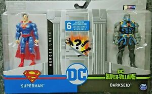 New Spin Master DC Comics Superman vs. Darkseid 4 inch Battle Pack