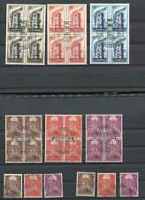 OC013) Luxembourg used stamps Cept Europ 1956-1957 block of 4  >>>>>>