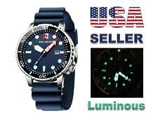 Watch NEW BEN NEVIS Sport Quartz date Diver Style Quartz BLUE Luminous Dial Hand