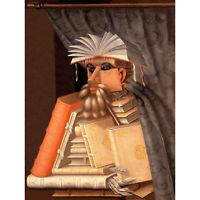 PAINTING ALLEGORY PORTRAIT ARCIMBOLDO LIBRARIAN DETAIL POSTER ART PRINT BB12097B