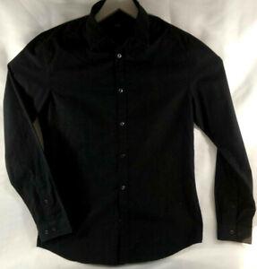 H&M  Chemise noire Manches longues Homme Easy Iron  Taille M  Envoi suivi