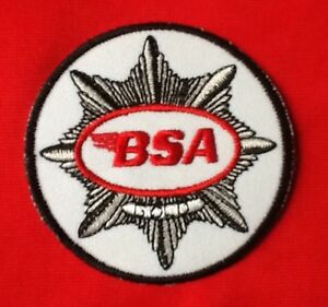 BSA GOLD MOTORCYCLE BANTAM BRITISH VINTAGE BIKE BIKER  BADGE IRON SEW ON PATCH
