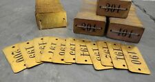 Set of 400 1940's NOS Hotel/Apartment Room Door Numbers/Tags/Signs Mid-Century