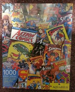 DC ACTION COMICS Superman Aquarius 1000 Piece Jigsaw Puzzle NEW IN BOX NIBSEALED