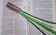 NEW Bookmark ribbons multi page for Bible hardcover books GREEN MEADOW handmade