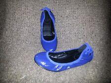 COLE HAAN-MARIA SHARAPOVA-Bacara Ballet Flats-Blue Patent Leather-Sz7B-Excellent
