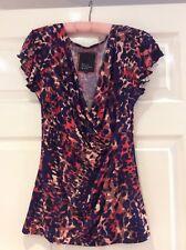 Bnwot Pretty Wrap Design Top By Betty Jackson Black @ Debenhams  Size 8 .