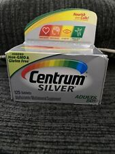 New Centrum Silver Adult 50+ Multivitamin/Multimineral Supplement 125 Ct 08/2021