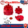 Red HEI Performance Distributor Cap&Rotor For Olds Pontiac Chevy V8 SBC BBC