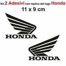 Kit 2 Adesivi Honda Moto Stickers Adesivo 11 x 9 cm decalcomania NERO