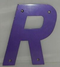 "10"" Marque Galvanized Vintage Style Metal 3D Letter Purple "" R ""  Sign"
