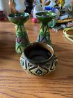 Vintage-Estate Sale Pottery made in Italy 2 Candlesticks and Bowl Bitosi?