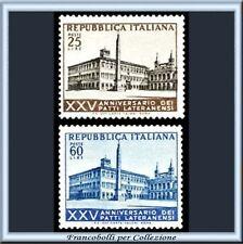 1954 Italia Repubblica Patti Lateranensi n. 733/734 **