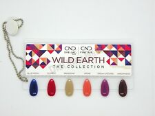 CND SHELLAC & VINYL WILD EARTH PAINTED Color Chart Nail Palette -4 COLOR SAMPLER