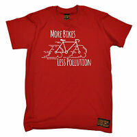 More Bikes Less Pollution T-SHIRT cycling jersey funny birthday gift present