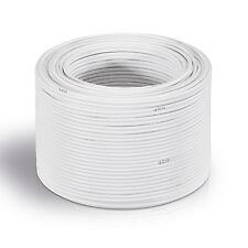 30 m Lautsprecher-Kabel 4 mm² weiß   Boxenkabel   %100 CCA Kupfer 80 Adern