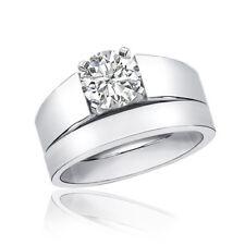 Solitaire Platinum Bridal Ring Set 4.50 Carat Round Cut Diamond IGI Certified