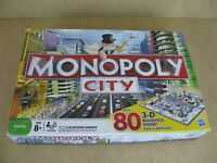 100% Complete Monopoly City Board Game By Hasbro 2008 With 3D Buildings Ages 8+