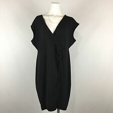 Lane Bryant Crossover Dress Little Black Plus Size 18 20 Solid Career Cap Sleeve