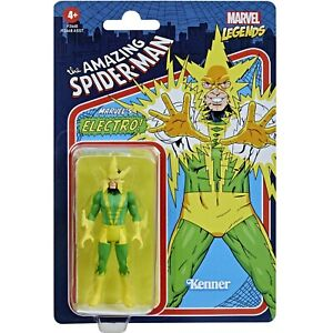 """Marvel Legends Retro Recollect Electro 3.75"""" Spider-Man Action Figure"""