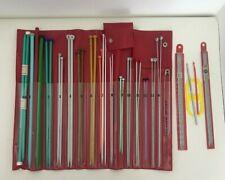 17 Knitting Needles Case Set Red Needle Case etc.
