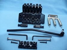 BLACK FLOYD ROSE TREMOLO DOUBLE LOCKING BRIDGE COMPLETE SYSTEM USA SHIPPING !!