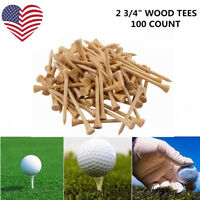 Golf Tees 100 Count 2 3/4 Wood White 70mm Professional Wooden PGA Approval