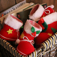 Santa Shoes Christmas Stocking Xmas Gift Sack Treat Bag DIY Filler Candy Boots ღ