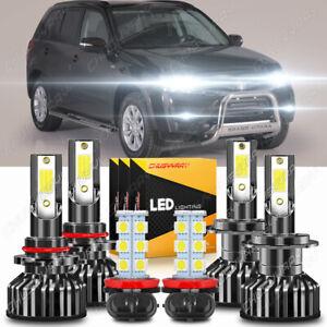 For Suzuki Grand Vitara 2006-2013 Combo 6x 6000K LED Headlights Kit High Low Fog