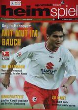 Programm BL 2004/05 SC Freiburg - Hannover 96