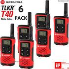 6 x Motorola Talker TLKR T40 2 Way Walkie Talkie PMR 446 Radios Six Pack Set