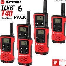 6x Motorola Exhibidor TKLR T40 2 VIA Walkie Talkie PMR 446 RADIOS SEIS PACK SET