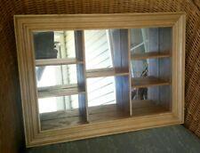Mirrored Display Shelf Shadow Box Wall Hanging Curio 8-Shelf Mirror Wood