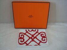 New Hermes Balcon du Guadalquivir Red Porcelain Sushi Plate Rectangular Box