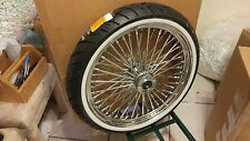 21 X 3.5 FAT SPOKE CHROME w DD, WW TIRE & ROTORS,& PADS  4 HARLEY FLH/FLT 00-07